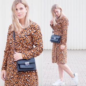 H&M Leopard Wrap Dress